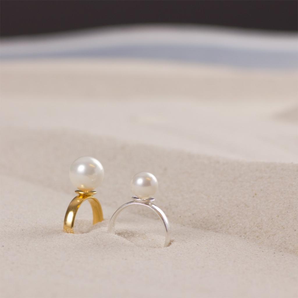 57614c8242 Gotowy pierścionek z perłą który możesz wykonać sama