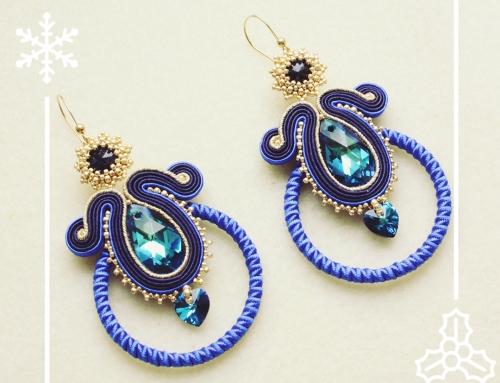 Sutaszowe kolczyki Bermuda Blue