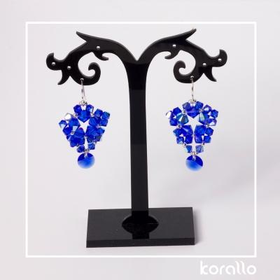 kolczyki z bicone majestic blue