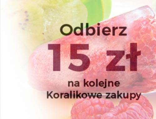 Akcja promocyjna – 15 zł na kolejne zakupy
