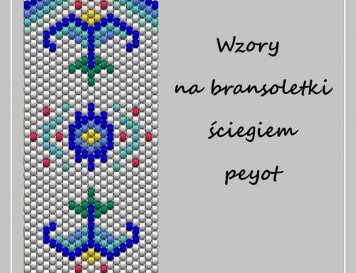 Wzory na bransoletkę ściegiem peyot