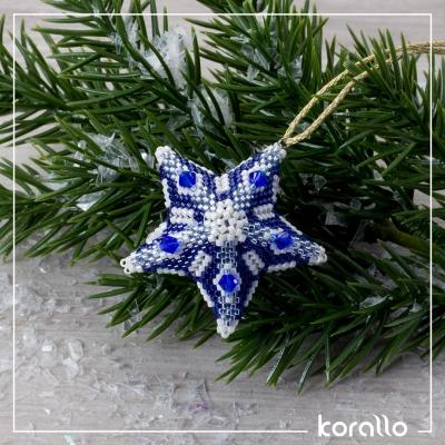 niebieska gwiazdka -gotowe z ramką