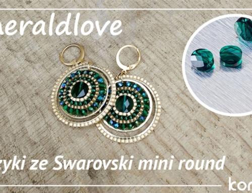 """Kolczyki """"Emeraldlove"""" z kryształami Swarovski"""