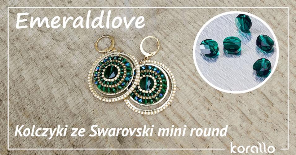 kolczyki ze Swarovski mini round