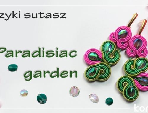 """Jak zrobić kolczyki sutasz z metalicznym sznurkiem? Kolczyki """"Paradisiac garden"""""""