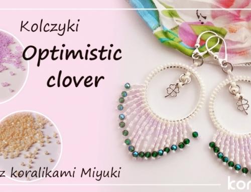 Kolczyki z koralikami Miyuki – Optimistic clover