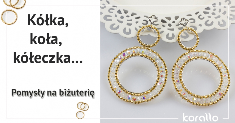biżuteria ze srebrnymi kółkami