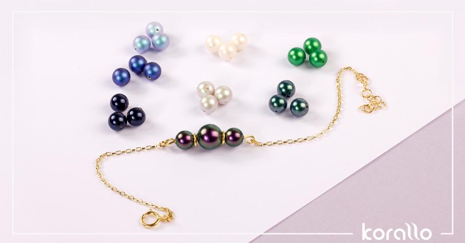 bransoletka z perły Swarovskiego