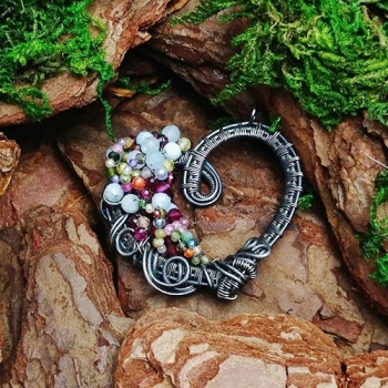 wisior serce wire wrapping
