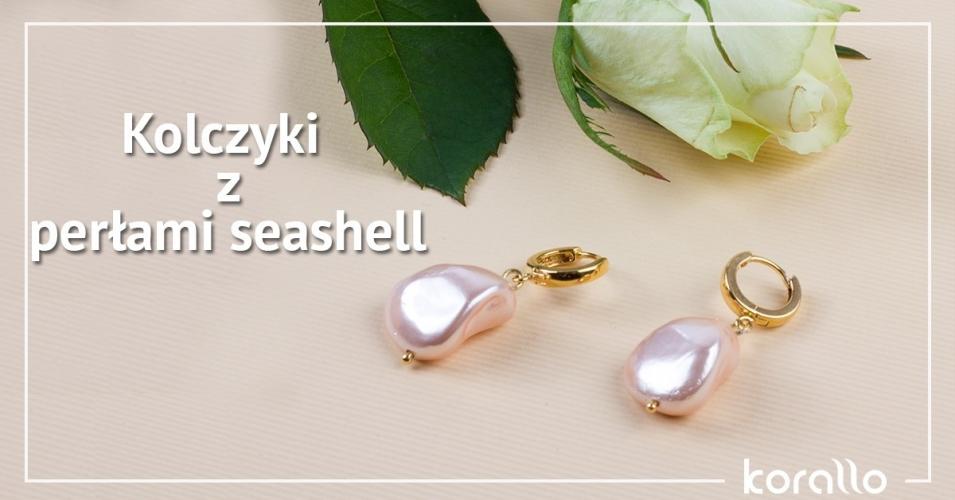 jak zrobić kolczyki z perłami seashell