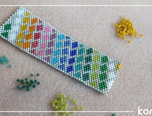 Kolorowa bransoletka z koralików Miyuki
