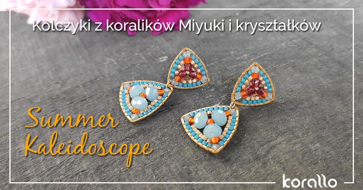 Kolczyki z koralików Miyuki i kryształków:
