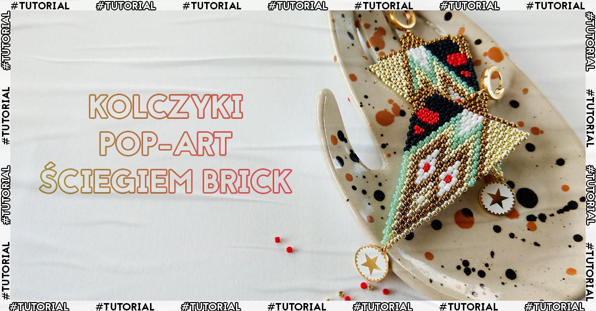Zabezpieczony: Kolczyki pop-art ściegiem Brick – darmowy tutorial