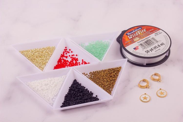 Kolczyki pop - art potrzebne materiały