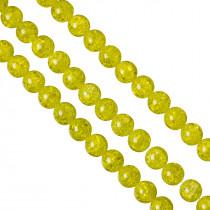 Kulki crackle cytrynowe 14mm