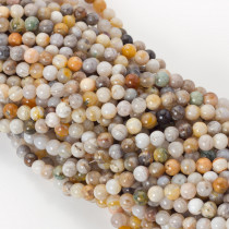 Koral fossil kulka gładka 6mm