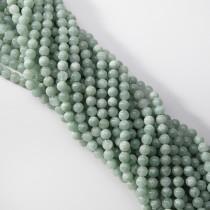Jadeit zielony z birmy kulka gładka 6.2mm