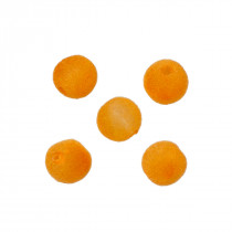 Kulki welurowe 12mm pomarańczowe