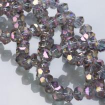 Kryształki flat cube violet AB 10x7mm