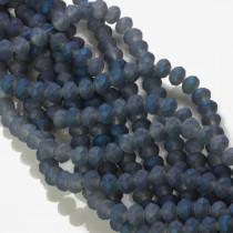 Kryształki oponki matowe mistic dark blue 6x8mm