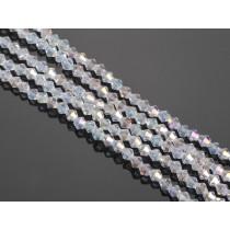 Kryształki kulki fasetowane crystal AB 4mm