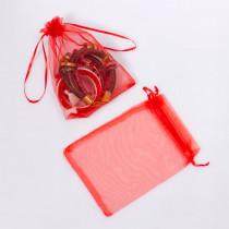 Woreczek z organzy do biżuterii 13x18cm czerwony