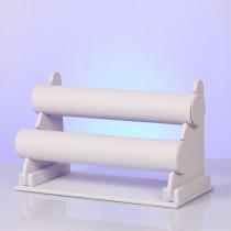 Ekspozytor podwójny na bransoletki biały 31x15cm