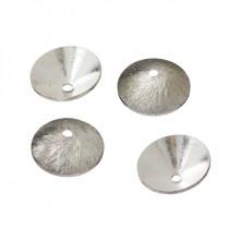 Srebrne czapeczki stożki satynowe 12mm, próba Ag925