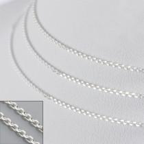 Srebrny łańcuszek simple 75cm, Ag925