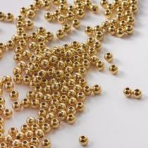 Kulki gładkie GOLDFILLED AU585 złoty 3,5mm