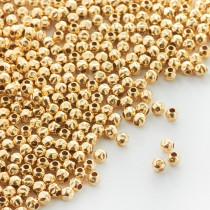 Przekładka kulka gnieciona GOLDFILLED AU585 3mm