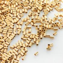 Przekładka rurka GOLDFILLED AU585 2x3mm