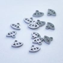 Mini zawieszka ze stali chirurgicznej oczko 4,7mm srebrna
