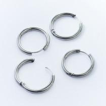 Kolczyki koła zapinane ze stali chirurgicznej srebrny 20mm