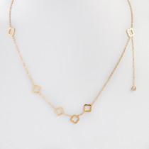 Naszyjnik z mini zawieszkami ze stali chirurgicznej koniczynka marokańska złoty 40,5cm