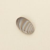 Krzemień pasiasty kaboszon owal 31x20 mm