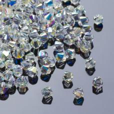 Swarovski bicone 4mm crystal AB