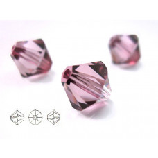Swarovski bicone 8mm antique pink