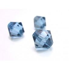 Swarovski bicone 10mm denim blue