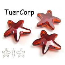 Swarovski starfish 16mm red magma