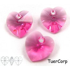 Swarovski heart 10mm rose