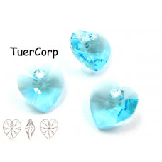 Swarovski heart 10mm aquamarine