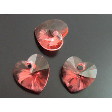 Swarovski heart 10mm peach rose