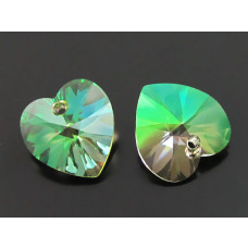 Swarovski heart 14mm luminous green