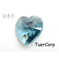 Swarovski heart 18mm denim blue