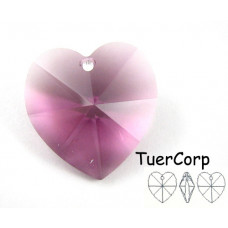 Swarovski heart 18mm amethyst