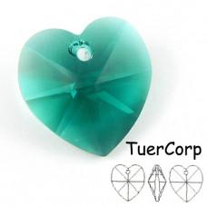 Swarovski heart 18mm emerald