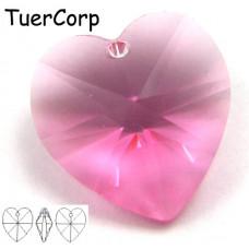 Swarovski heart 18mm rose