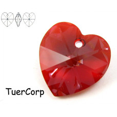 Swarovski heart 18mm red magma