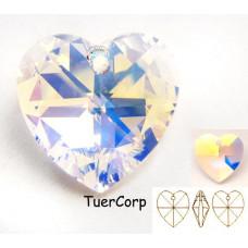 Swarovski heart 28mm crystal AB